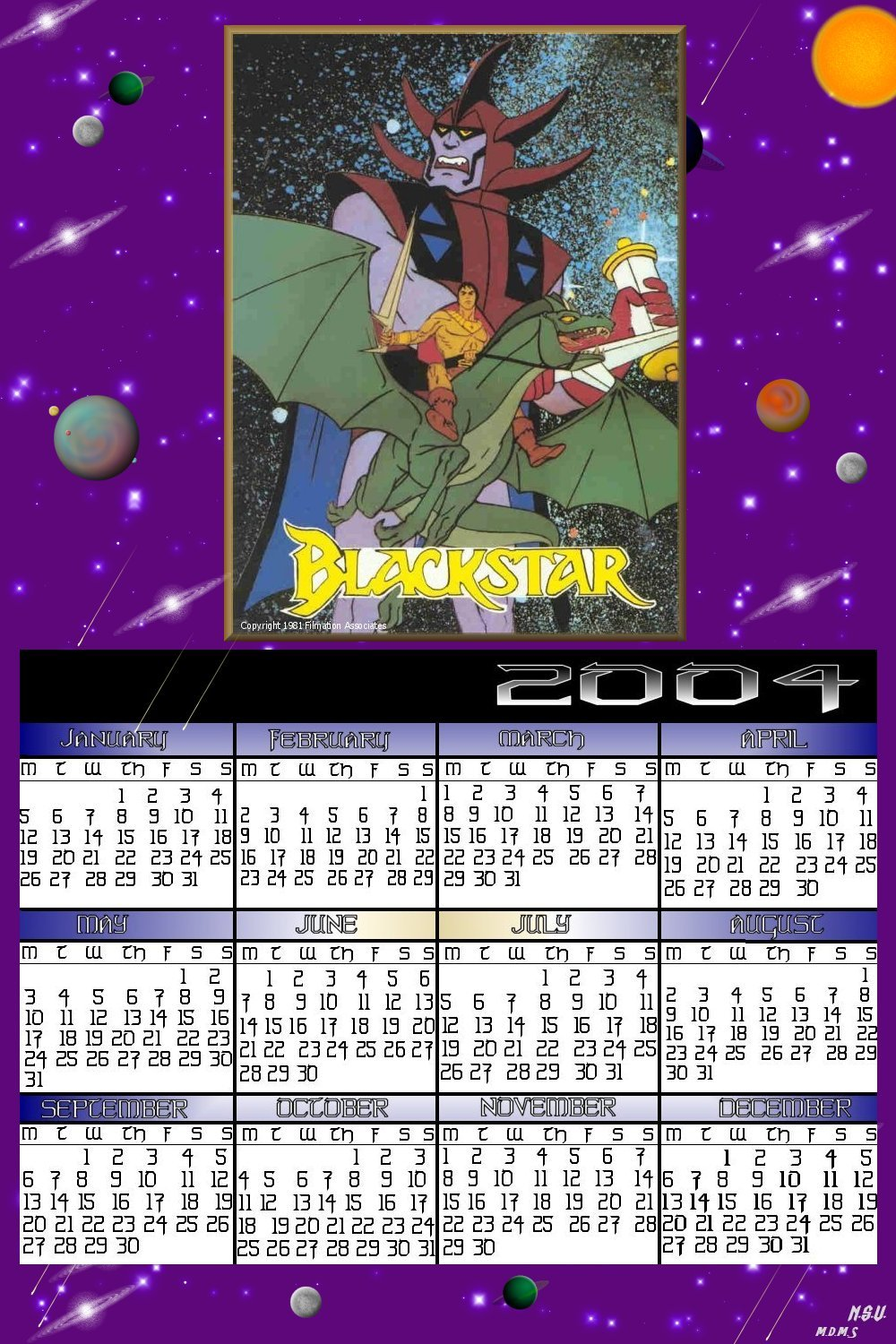 First Blackstar Calender 2004_CityAncientOnes